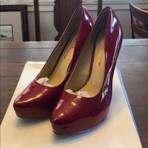 Kelsi Dagger Red Platform Heels